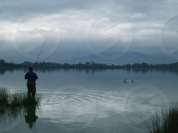 Fishing Paarl Dam Western Cape RSA photo