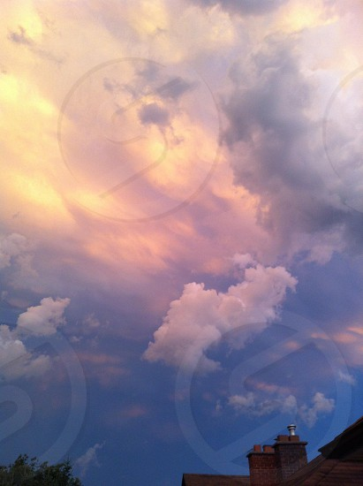 large clouds photo