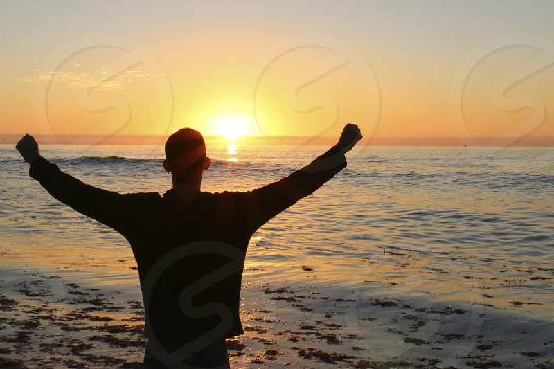 Sunset victory - Pacific Beach CA photo