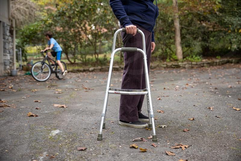 Disabled handicapped senior citizens photo