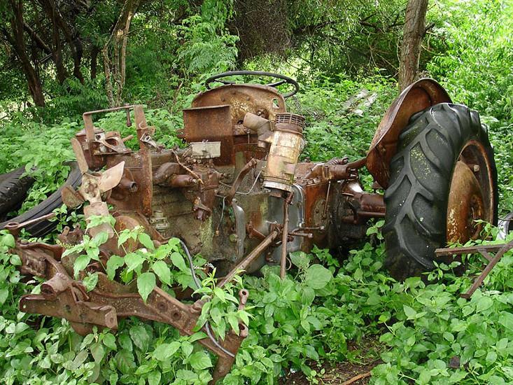 Antique Farm Equipment Farm Tractor Bolivia Tobacco Farm  photo