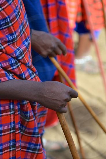 Hands of Maasai - Africa photo