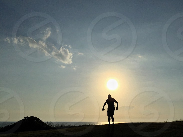 #sunset #nature #silhouette #sun #scenic #one person #outdoors photo