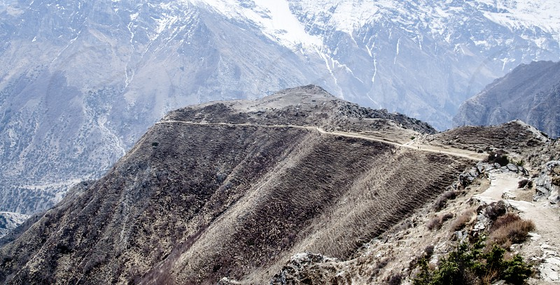 The trail to Nar Nepal photo