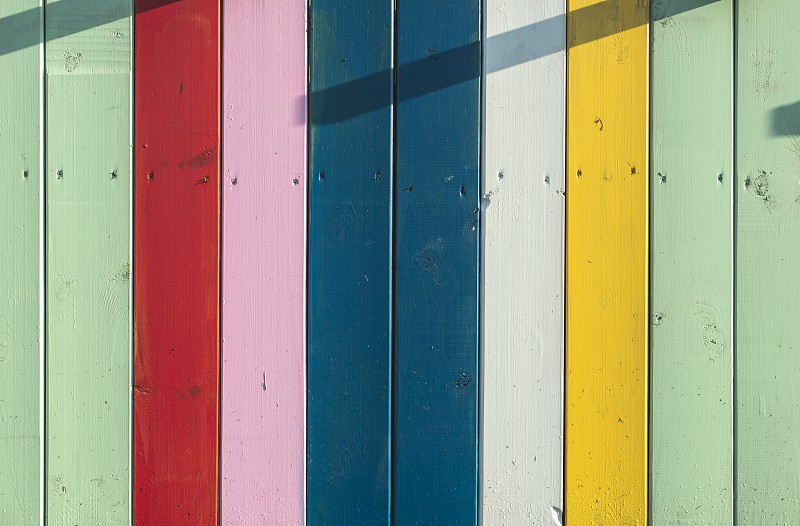 Colorful planks background. Sunny day photo