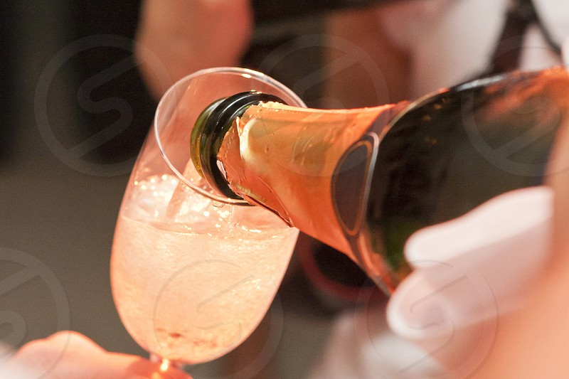 champagne glass bottle party wedding photo