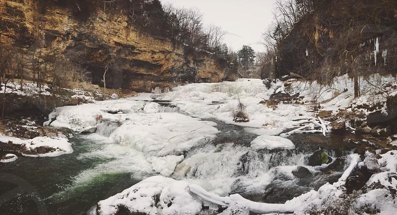 Freezing waterfall photo