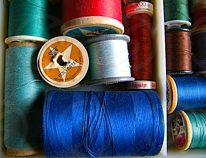 Macro image of thread photo