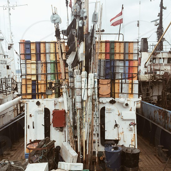 Fishing trawler Liepaja harbour Latvia. VSCOcam A4 photo