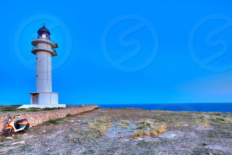 Barbaria Berberia Cape Lighthouse Formentera  in Balearic Islands photo