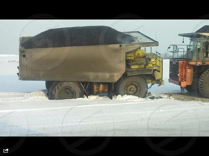 Mining dump truck photo