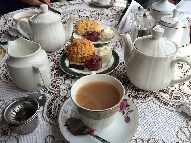 Cake Scotland tea food snack Britain British table cuisine  photo