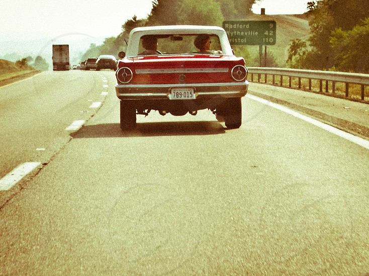 Spotted on the way to southeastern Virginia. Riding in style. photo