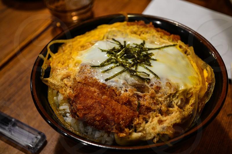 Katsudon in Tokyo Japan photo