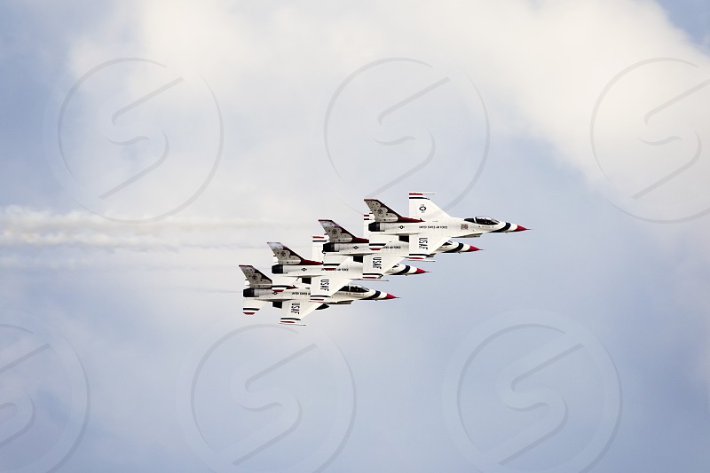 Formation Air Force planes jets  photo