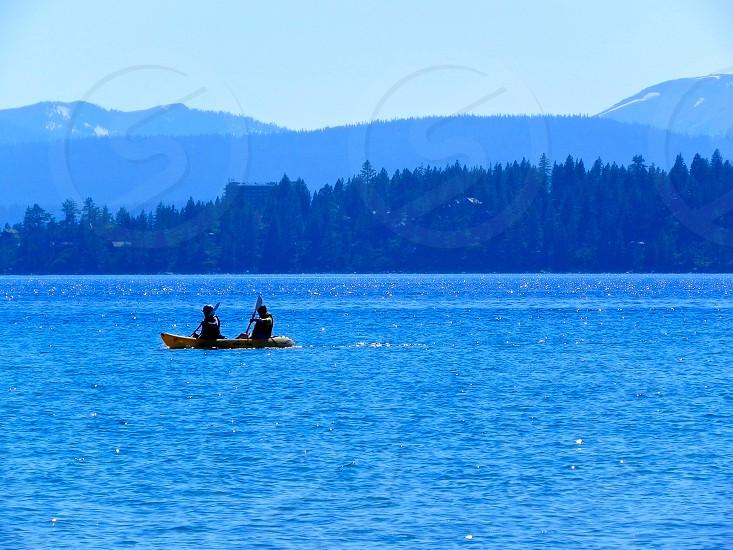 Kayaking Lake Tahoe photo
