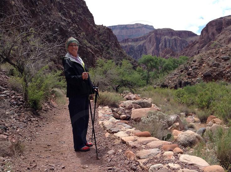 Grand Canyon trail North Kaibab photo