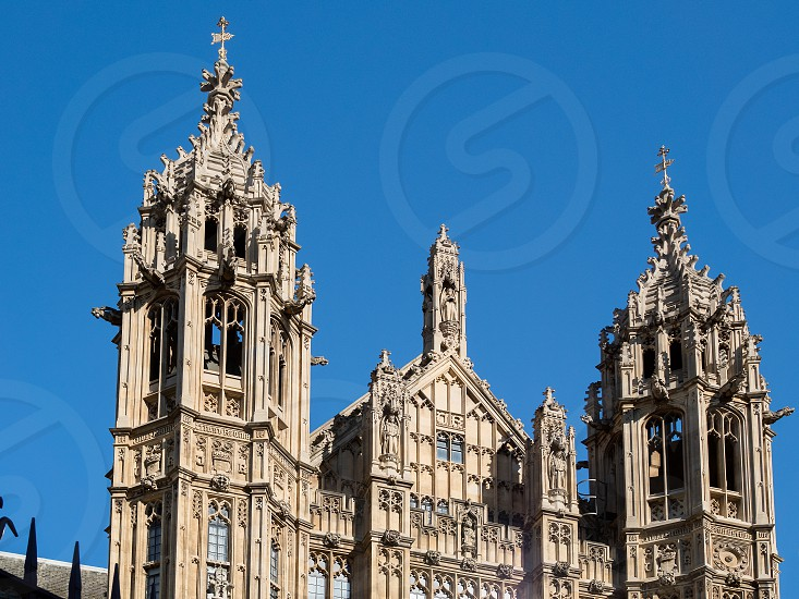 View of the Sunlit Houses of Parliament photo