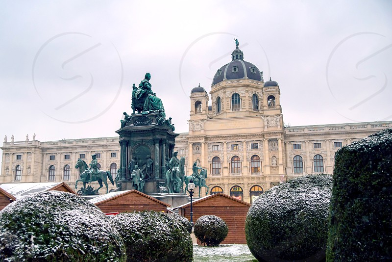 Vienna Hofburg - Imperial Palace Austria misty morning photo