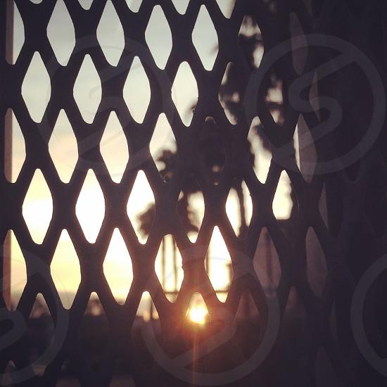 gated sunrise photo