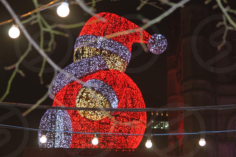 Santa in Lights  Manchester photo