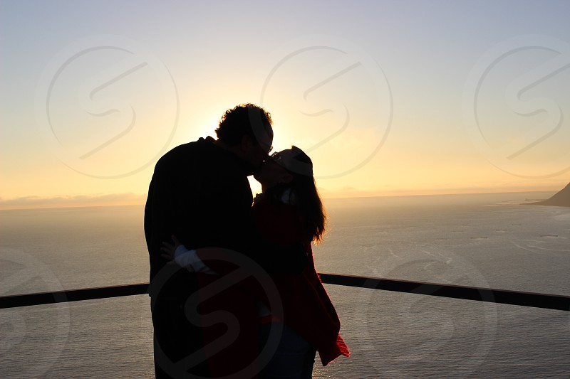 Couple in Sunset. photo