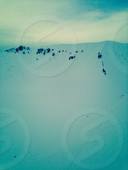 Mountain snow skiing winter rock Alps photo