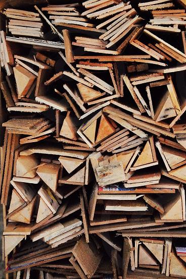 brown wooden blocks photo