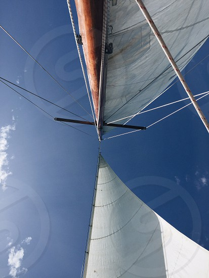 Sail sail boat boat ocean sky Caribbean sea travel tropical photo