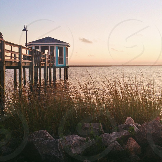 North Carolina water sky bay sunset outer Banks obx peaceful  photo