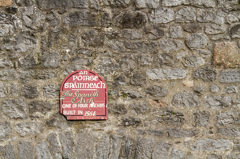 The sign for the Spanish Arch in Galway Ireland photo