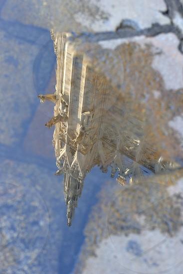 Reflection of Duomo di Milano Cathedral Milan Italy photo