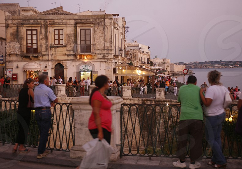 the old Town of Siracusa in Sicily in south Italy in Europe. photo