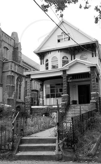 White Three Story House photo