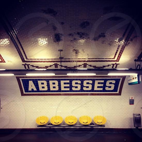 empty paris metro station photo