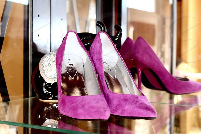 Pink ladies high heels photo