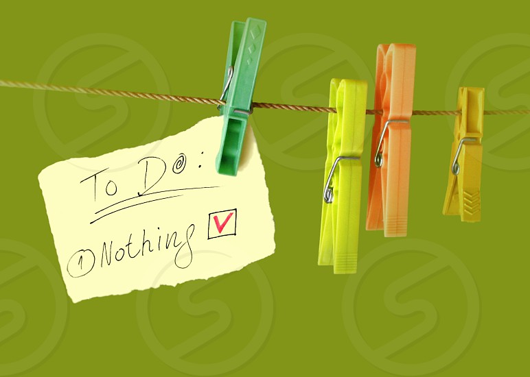 """To do: Nothing"" list 2 photo"
