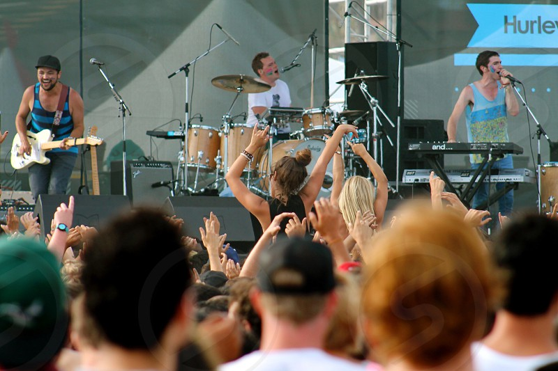 Rocking out at the US Open of Surf photo