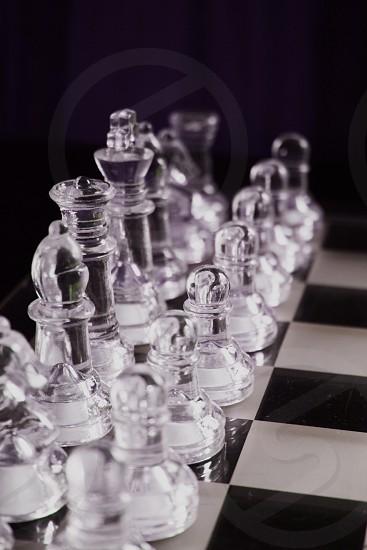 Glass Chess pieces White photo