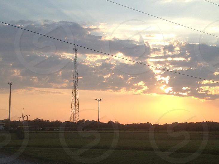 Sunset at the plains of Illinois  photo