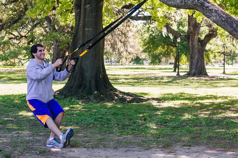 Personal Trainer using TRX photo