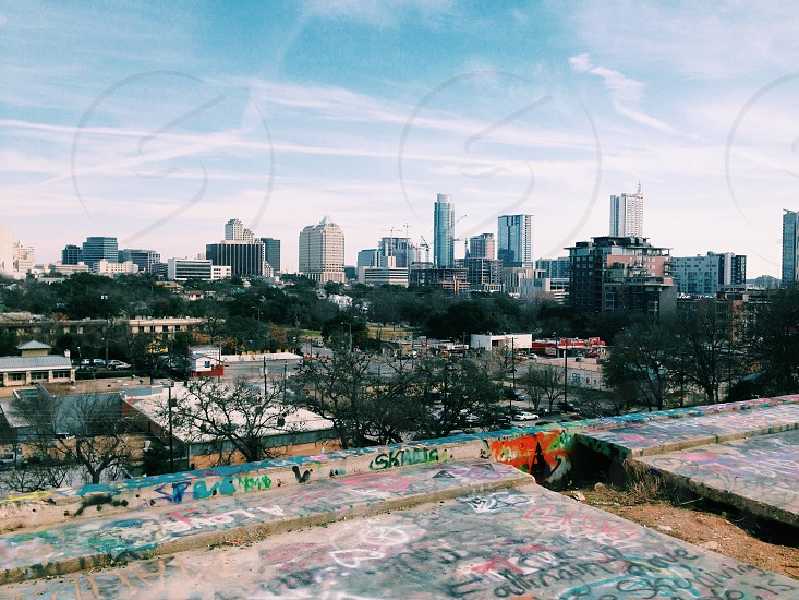 Austin city view from Castle Hill photo