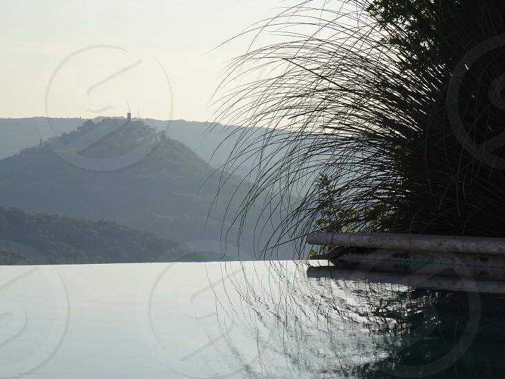 Pool reflection. Istria Croatia photo