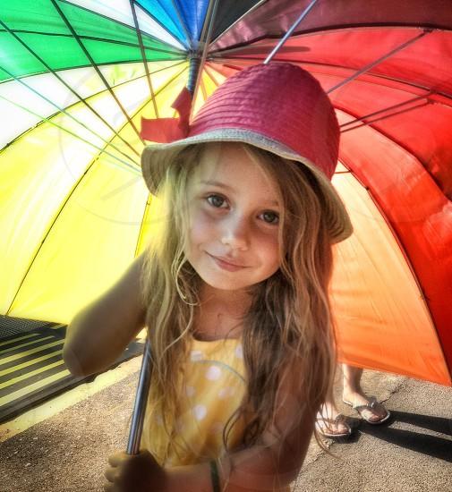 #littlegirl #umbrella #colour #pretty #cute photo