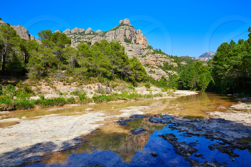 Beceite river Ulldemo in Teruel Spain at Matarrana area photo