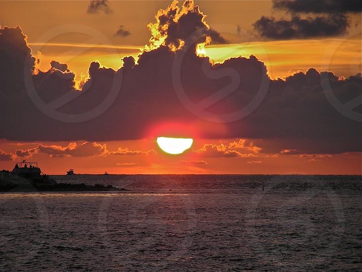 Sunset in Key West Florida. photo