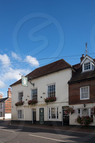 LINDFIELD WEST SUSSEX/UK -OCTOBER 29 : View of the Bent Arms pub in the village of Lindfield West Sussex on October 29 2018 photo