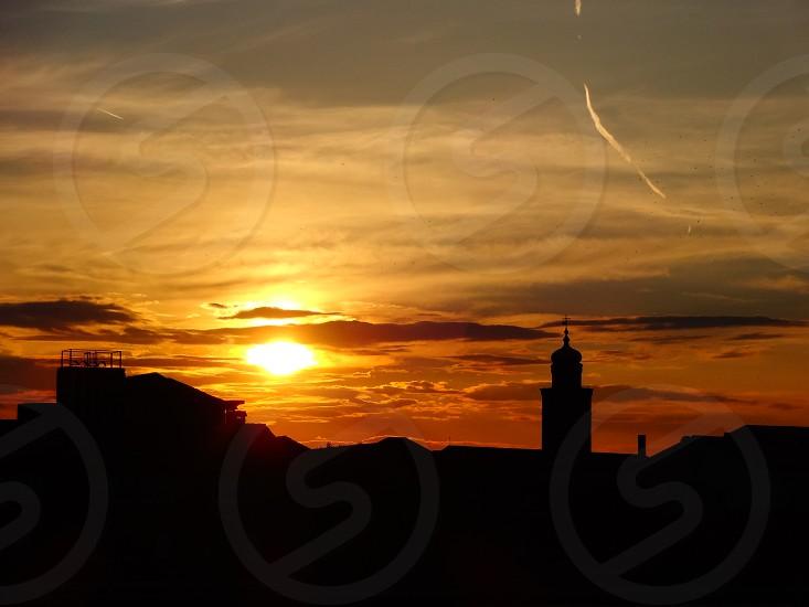 sunset travel light sky colors photo