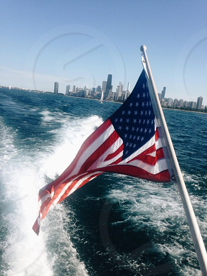 4th of July Americana on Lake Michigan in Chicago.  photo
