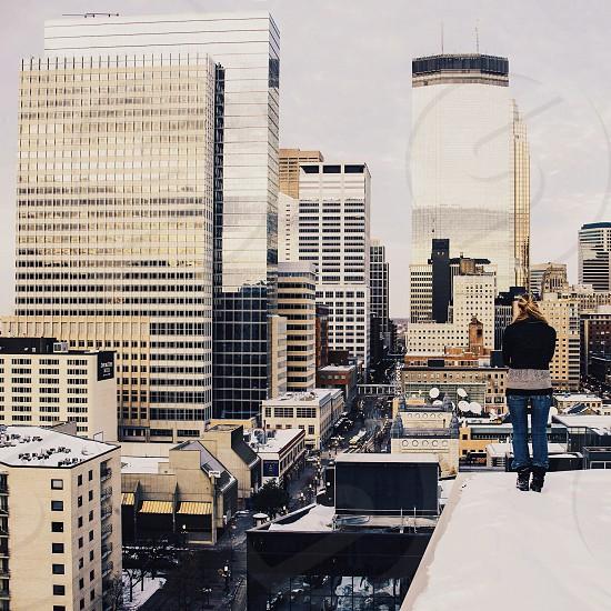 city scape buildings photo